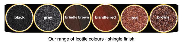 icotile colours shingle finish